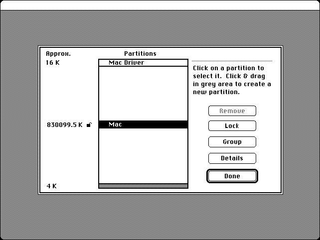 Macintosh Partition Scheme